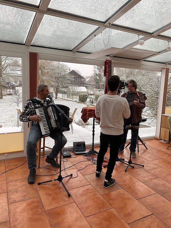 Roland Ohmer und Franz Roth Weinfest Dehäm