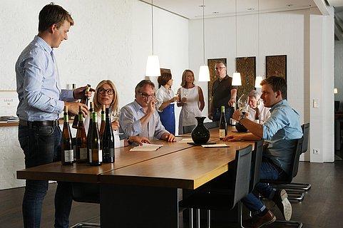 Weinprobe im Weingut Rebholz
