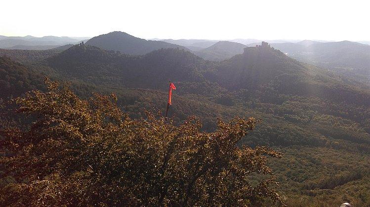 Ausblick auf Trifels, Anebos & Münz im Spätsommer