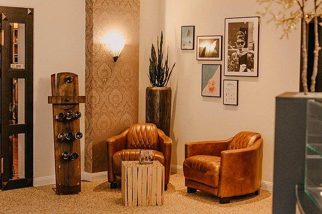 Wohnzimmer Eingang Sitzecke