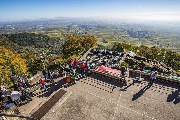 Ausblick von Bergstation Rietburgbahn