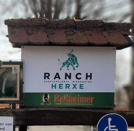 Ranch Schild Eingang